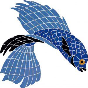 Beta Fish 1 Pool Mosaics