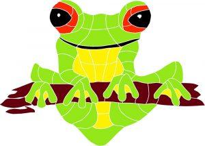 Frog on Log Pool Mosaics