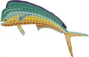 Bull Dolphin / Mahi Mahi Pool Mosaics