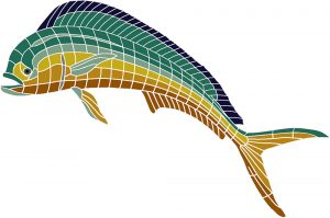 Cow Dolphin / Mahi Mahi Pool Mosaics