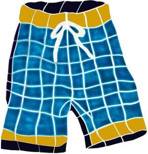 Board Shorts Pool Mosaics