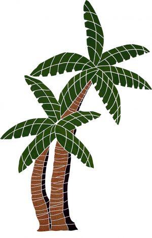 Palm Tree Pool Mosaics