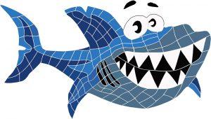 Smiling Shark Pool Mosaics