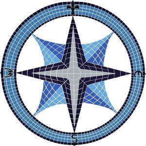 Compass Rose Pool Mosaics
