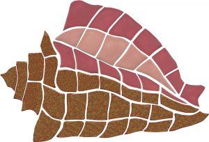 Conch Shell Pool Mosaics