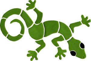Gecko Pool Mosaics