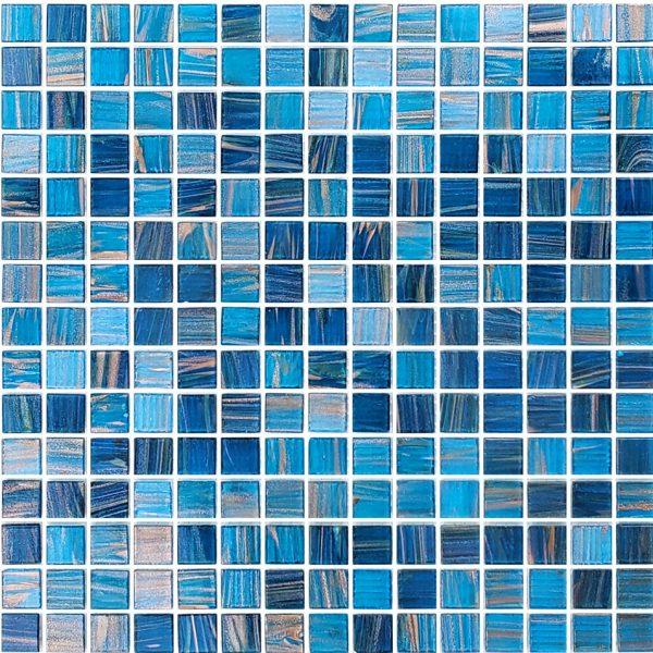 Blue Copper Blend 3/4″ x 3/4″ (Venetian Series) Glass Pool Tile