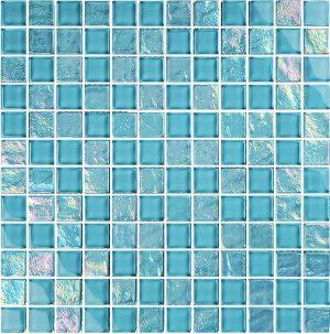 Turquoise 1″ x 1″ (Twilight Series) Glass Pool Tile