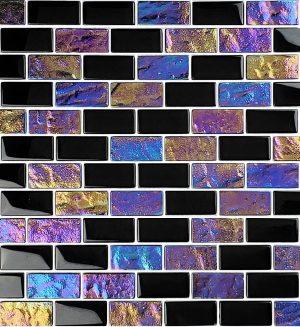 Black 1″ x 2″ (Twilight Series) Glass Pool Tile