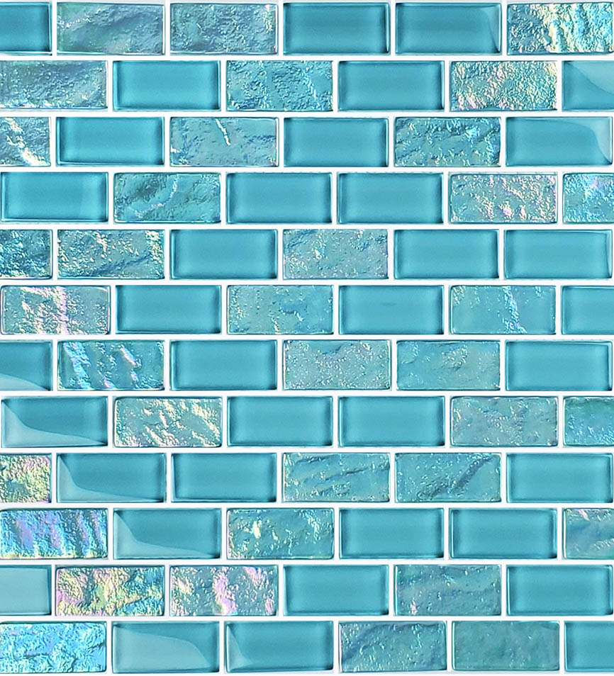 Turquoise 1″ x 2″ (Twilight Series) Glass Pool Tile
