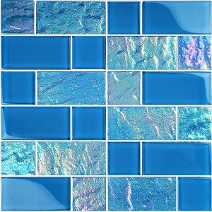 Azure Mixed (Twilight Series) Glass Pool Tile