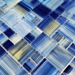 Blue Mixed (Watercolors Series) Glass Pool Tile