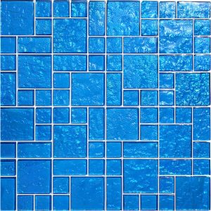Blue Mixed (Galaxy Series) Glass Pool Tile
