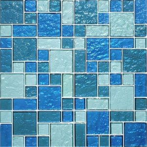 Blue Blend Mixed (Galaxy Series) Glass Pool Tile