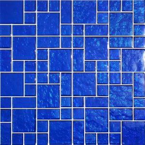 Cobalt Mixed (Galaxy Series) Glass Pool Tile