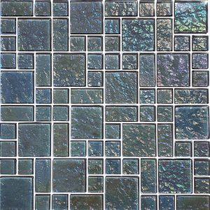 Graphite Mixed (Galaxy Series) Glass Pool Tile