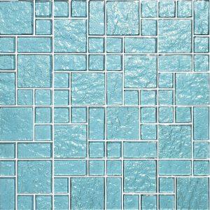 Aquamarine Mixed (Galaxy Series) Glass Pool Tile