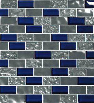 Navy 1″ x 2″ (Titanium Series) Glass Pool Tile