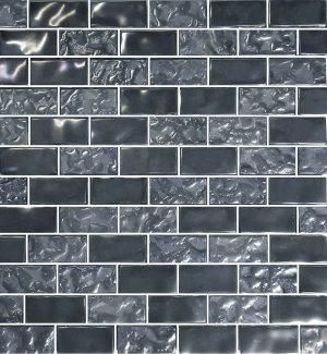 Silver 1″ x 2″ (Titanium Series) Glass Pool Tile