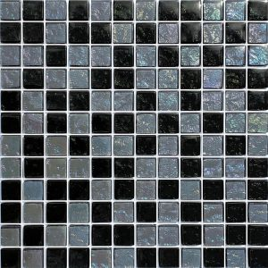 Slate 1″ x 1″ (Galaxy Series) Glass Pool Tile