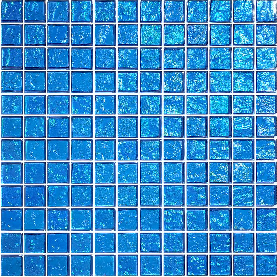 Blue 1″ x 1″ (Galaxy Series) Glass Pool Tile