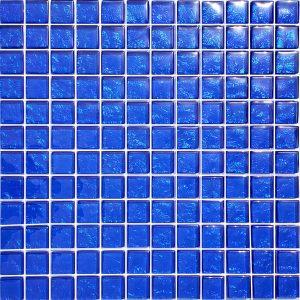 Cobalt 1″ x 1″ (Galaxy Series) Glass Pool Tile