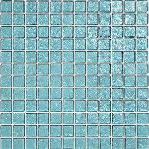 Aquamarine 1″ x 1″ (Galaxy Series) Glass Pool Tile