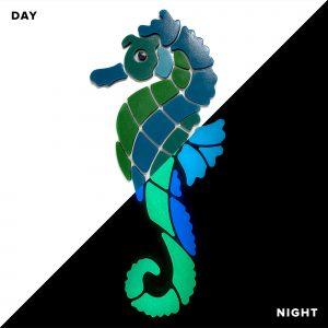Glow in the Dark Seahorse Pool Mosaics