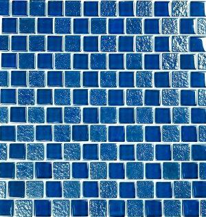 Blue 1″ x 1″ (Signature Series) Glass Pool Tile