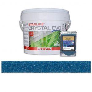 Amazonite – Starlike Crystal EVO 700 Epoxy Grout + J.43 Jewels Additive Tile Installation