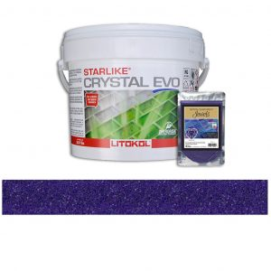 Amethyst – Starlike Crystal EVO 700 Epoxy Grout + J.6 Jewels Additive Tile Installation