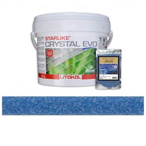 Angelite – Starlike Crystal EVO 700 Epoxy Grout + J.1 Jewels Additive Tile Installation
