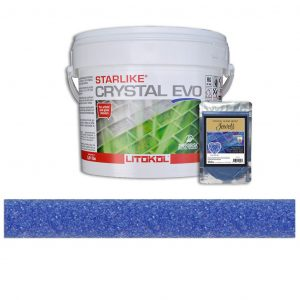 Blue Zircon – Starlike Crystal EVO 700 Epoxy Grout + J.2 Jewels Additive Tile Installation