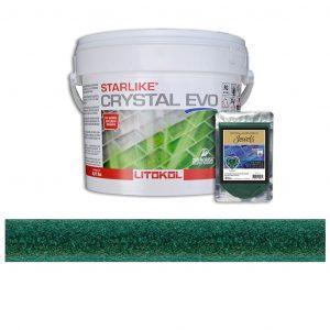 Emerald – Starlike Crystal EVO 700 Epoxy Grout + J.11 Jewels Additive Tile Installation