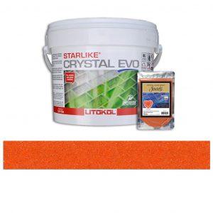 Fire Opal – Starlike Crystal EVO 700 Epoxy Grout + J.8 Jewels Additive Tile Installation