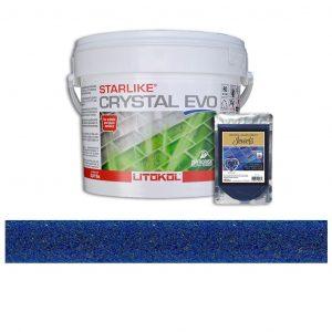 Lapis Blue – Starlike Crystal EVO 700 Epoxy Grout + J.41 Jewels Additive Tile Installation