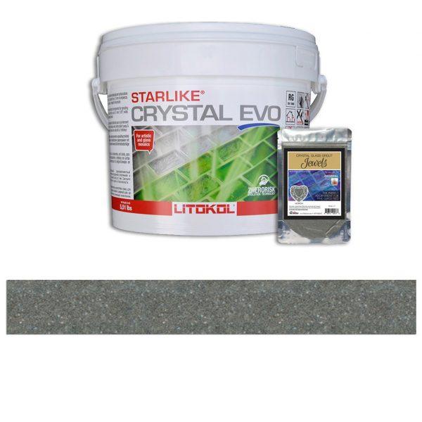 Morion – Starlike Crystal EVO 700 Epoxy Grout + J.17 Jewels Additive Tile Installation