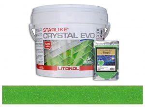 Peridot – Starlike Crystal EVO 700 Epoxy Grout + J.12 Jewels Additive Tile Installation