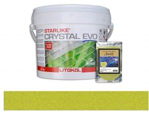 Sun Stone – Starlike Crystal EVO 700 Epoxy Grout + J.10 Jewels Additive Tile Installation