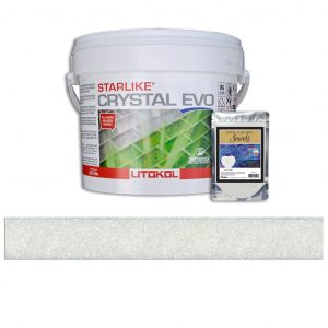 White Pearl – Starlike Crystal EVO 700 Epoxy Grout + J.45 Jewels Additive Tile Installation