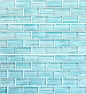 Seafoam 1″ x 2″ (Watercolors Series) Glass Pool Tile