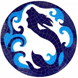 Mermaid Medallion Pool Mosaics