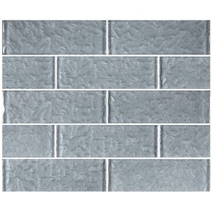 Gray 2″ x 6″ (Moonscape Series) Glass Pool Tile