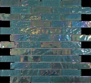 Aquamarine 1″ x 3″ (Pacific Series) Glass Pool Tile