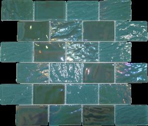 Aquamarine 2″ x 3″ (Pacific Series) Glass Pool Tile