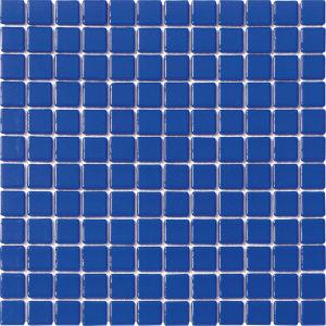 Blue Marine Non-Skid 1″ x 1″ (Solid Series) Glass Pool Tile