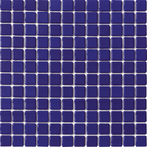 Dark Blue Non-Skid 1″ x 1″ (Solid Series) Glass Pool Tile