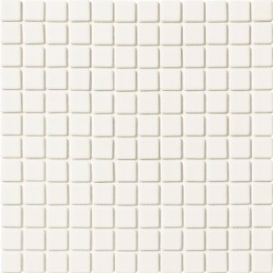 White Non-Skid 1″ x 1″ (Solid Series) Glass Pool Tile
