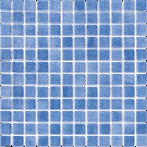 Light Blue Non-Skid 1″ x 1″ (Fog Series) Glass Pool Tile