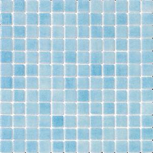 Celestial Blue Non-Skid 1″ x 1″ (Fog Series) Glass Pool Tile